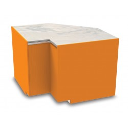 Meuble caisse en angle intérieur sans pose-sacs - YSCI - Long. 850 mm