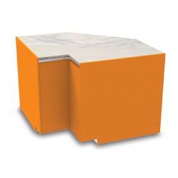 Meuble caisse en angle intérieur sans pose-sacs - YSCI - Long. 1090 mm