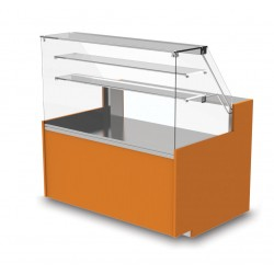 Vitrine neutre - Version viennoiserie ouverte - YSNO - Long. 2540 mm