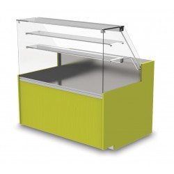 Vitrine neutre - Version viennoiserie fermée - YSNF - Long. 2540 mm