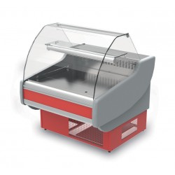 Vitrine réfrigérée - Ventilée avec réserve - THERT- Long. 1500 mm
