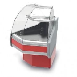 Vitrine réfrigérée ventilée à angle extérieur de 90° - THERTE90 - Long. 1138 mm