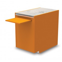 Meuble caisse PMR avec tablette coulissante - YSPMR - Long. 555 mm