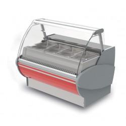 Vitrine réfrigérée ventilée - Version Saladette - PTRSL - Long. 1500 mm