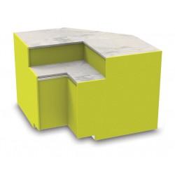 Meuble caisse en angle intérieur avec pose-sacs - YSIP - Long. 1100 mm