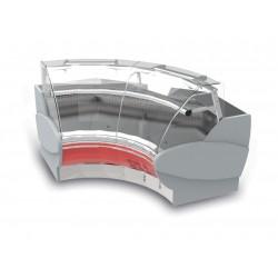 Vitrine réfrigérée à angle intérieur de 90° - Ventilée - Sans joue - PTRI - Long. 1820 mm