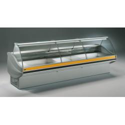 Vitrine réfrigérée ventilée avec réserve - Vitrage Bombé - LRT - Long. 3541 mm