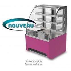 Vitrine réfrigérée ventilée - Version Grab'n Go - VIRVVS - Long. 860 mm