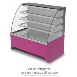 Vitrine réfrigérée ventilée - Version murale self-service - VIRM - Long. 1660 mm