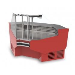 Angle réfrigéré intérieur ventilé avec réserve et sans joue - Vitrage Bombé - LRTI - Long. 1358 mm