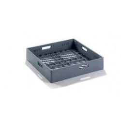 Panier fond plat - Plastique - 500 x 500 x H 105 - ZCC44
