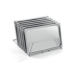 Support inox pour 6 plateaux 500 x 500 x H 160 - ZC575005