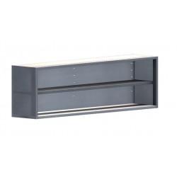 Armoire suspendue ouverte - L 2000 x P 400 x H 600 - Inox murale - ASO/204