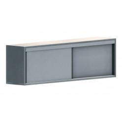 Armoire suspendue - Portes coulissantes - L 1200 x P 400 x H 600 - Inox murale - ASF/124