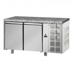 Table réfrigérée pâtissière - Groupe logé - Dessus granit - 2 portes - Eva - TPB20GLG