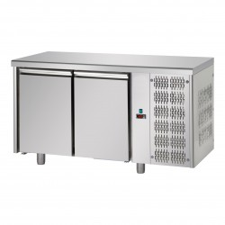 Table réfrigérée pâtissière - Groupe logé - Dessus inox - 2 portes - Eva - TPB20GLI