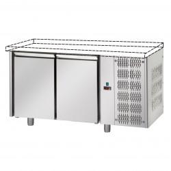 Table réfrigérée pâtissière - Groupe logé - Sans dessus - 2 portes - Eva - TPB20GLO