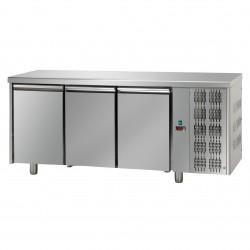 Table réfrigérée pâtissière - Groupe logé - Dessus inox - 3 portes - Eva - TPB30GLI