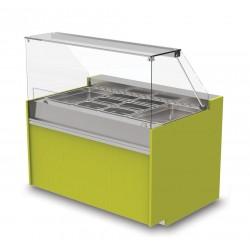 Vitrine réfrigérée ventilée - Version saladette - YRSSL - Long. 1290 mm