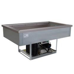 Cuve réfrigérée 2 bacs GN 1/1 - Froid statique - GNC - GN2C