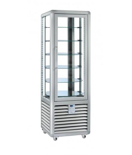 Vitrine réfrigérée positive ventilée - 4 faces vitrées - 1 porte - 360 L - HUSKY - HPS350R/2