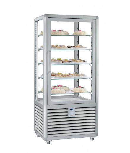 Vitrine réfrigérée positive ventilée - 4 faces vitrées - 1 porte - 541 L - HUSKY - HXL600V/2