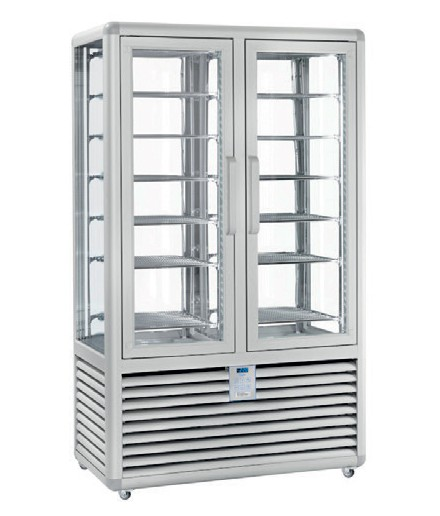 Vitrine réfrigérée positive ventilée - 4 faces vitrées - 2 portes - 848 L - HUSKY - HPS900V/2