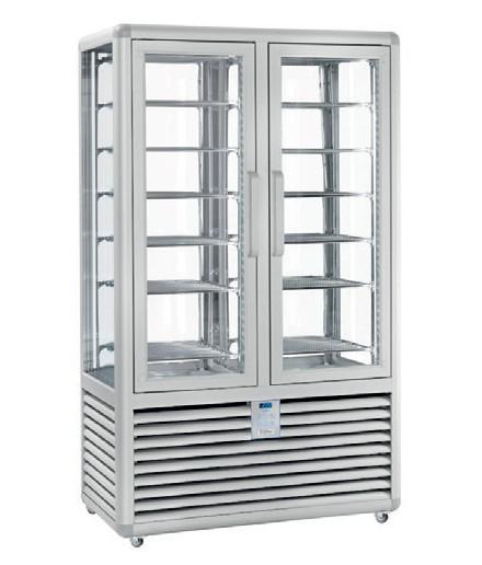 Vitrine réfrigérée positive ventilée - 4 faces vitrées - 2 portes - 1082 L - HUSKY - HXL120V/2