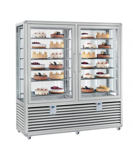 Vitrine réfrigérée négative statique - 4 faces vitrées - 2 portes - 1082 L - HUSKY - HXL120S/2