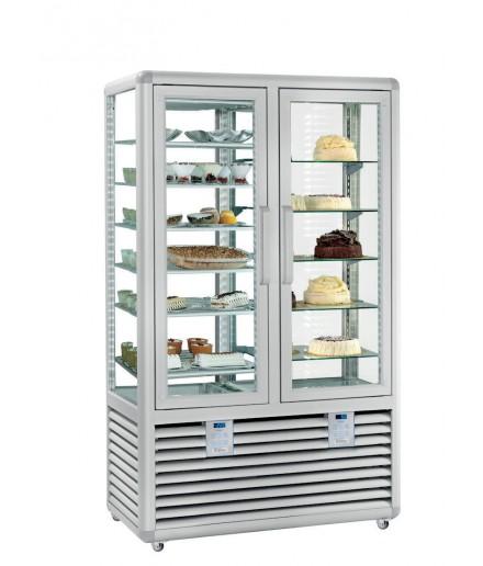 Vitrine réfrigérée négative statique et positive ventilée - 4 faces vitrées - 2 portes - 742 L - HUSKY - HPG70SV/2