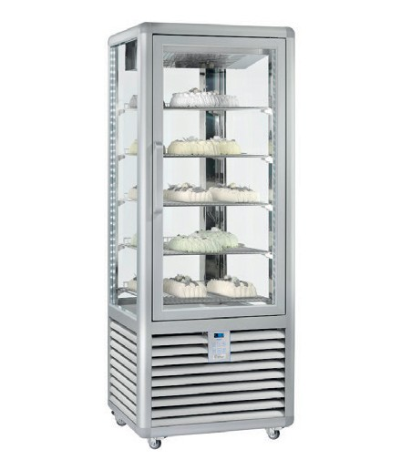 Vitrine réfrigérée négative ventilée Bi-T° - 4 faces vitrées - 1 porte - 541 L - HUSKY - HXL600G/2