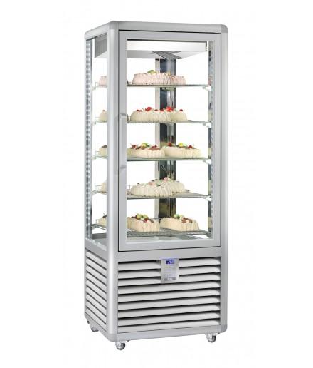 Vitrine réfrigérée positive ventilée - 4 faces vitrées - 1 porte - 230 L - HUSKY - HPS250V/2