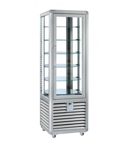 Vitrine réfrigérée positive ventilée - 4 faces vitrées - 1 porte - 427 L - HUSKY - HPS450R/2