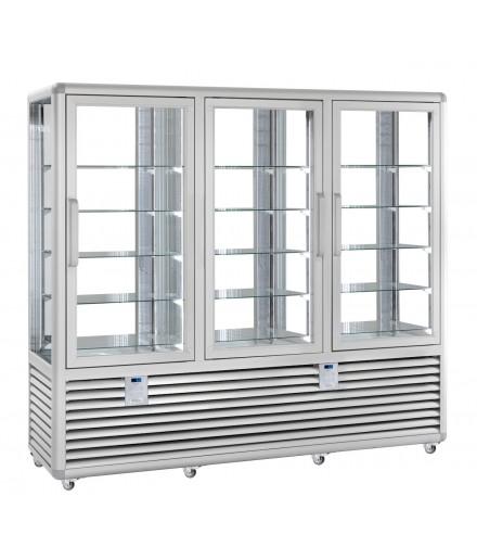 Vitrine réfrigérée négative ventilée Bi-T° - 4 faces vitrées - 3 portes - 1388 L - HUSKY - HGL130G/2