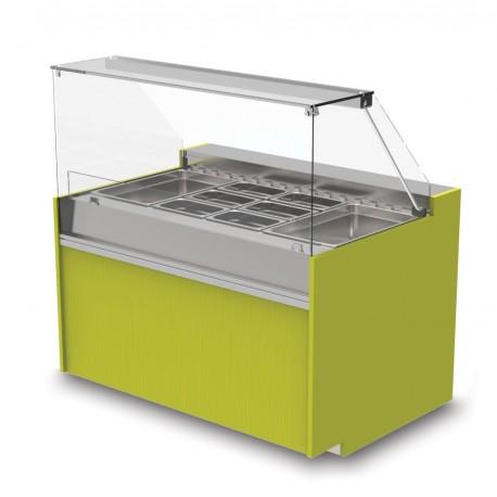 Vitrine réfrigérée positive - Version saladette - YSRSSL - Long. 1290 mm