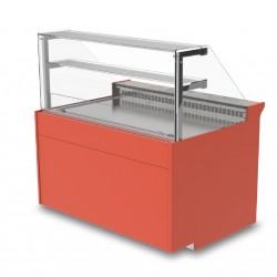 Vitrine réfrigérée - Ventilée avec réserve - KURT - Long. 1290 mm