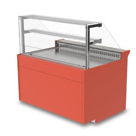 Vitrine réfrigérée - Ventilée avec réserve - KURT - Long. 2590 mm
