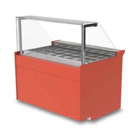 Vitrine réfrigérée ventilée - Saladette sans réserve - KUSSL - Long. 1690 mm