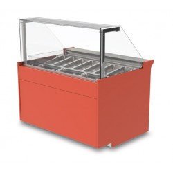 Vitrine réfrigérée ventilée - Version crèmes glacées - KURSG - Long. 1290 mm
