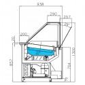 Plan vitrine réfrigérée ventilée - Version entremets glacés - KUREG