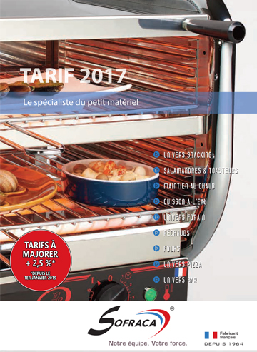 Catalogue tarif SOFRACA