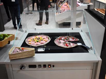 Vitrine plateau chauffant pour pizza DAISY SLIM
