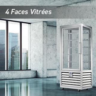 4 faces vitrées